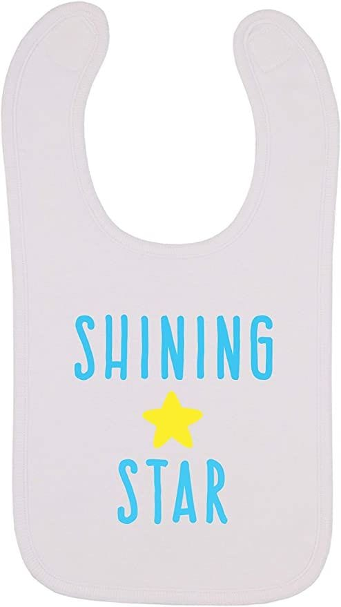 Shining Star, Space Themed Baby Bib