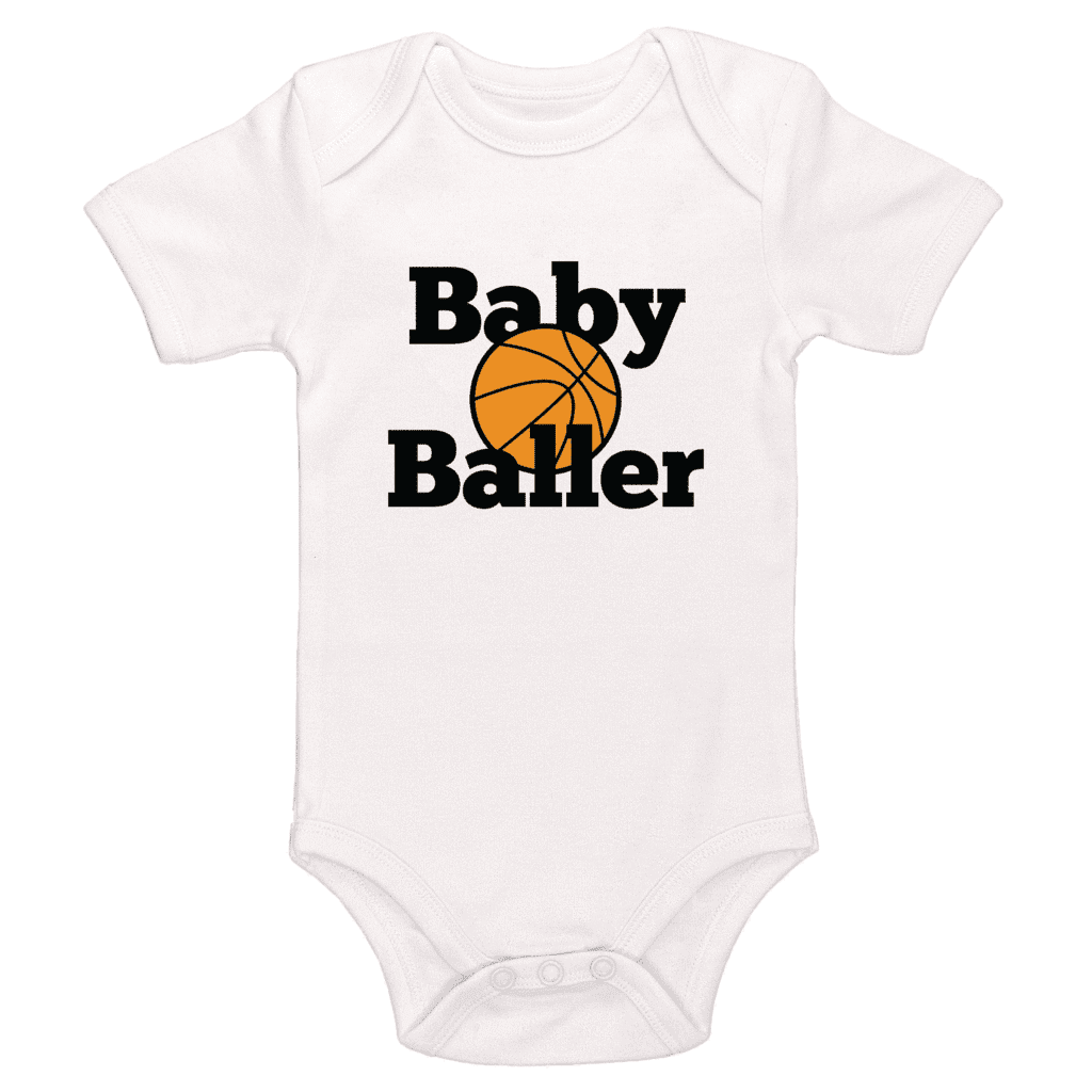 Baby Baller Basketball Themed Bodysuit