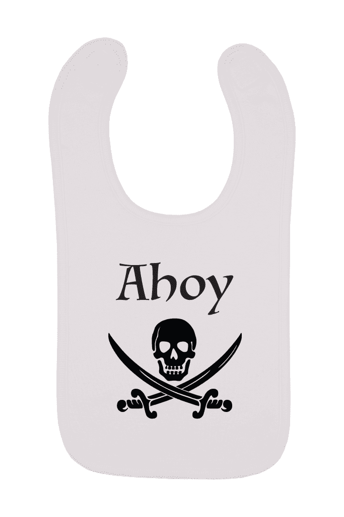 Ahoy Pirate Baby Bib