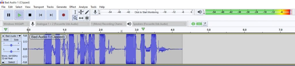 Clipped Audio In Audacity